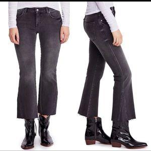 Free People Rita Raw Edge Raw Crop Flare Jeans